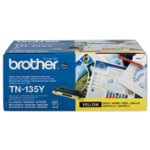 Brother TN 135Y high capacity yellow toner cartridge
