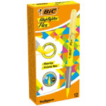 BIC Highlighters Flex 04 mm Yellow Pack 12