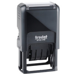 Trodat Printy 4750 Self Inking Date Stamp  Blue  Red 41 x 4 mm