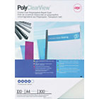 GBC A4 Polyclear Binding Covers Frosted 300 Microns 100 Per Pack