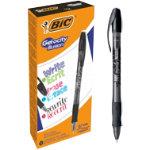 BIC Rollerball Pen Gel ocity Illusion 035 mm black Pack 12