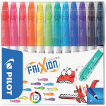 Pilot Felt tip Pens Frixion Colors 07 mm Assorted Pack 12