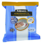 Fellowes Hand Protection Wipes pack of 20