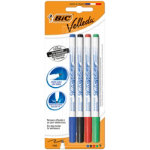 Bic Velleda Slim Whiteboard Markers Assorted Pack of 4