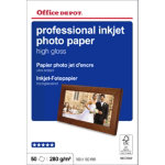 Office Depot Professional Inkjet Photo Paper High Gloss 100 x 150mm 280gsm