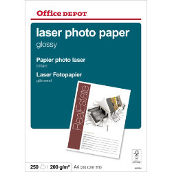 Office depot a4 laser gloss photo paper 210gsm 250 sheets per pack roll over to zoom reheart Image collections
