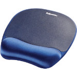 Fellowes Blue Memory Foam Mouse Pad