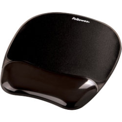 Fellowes Gel Crystals Black Mouse Pad