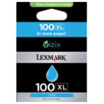 Lexmark 100XL Original Cyan Printer Ink Cartridge 14N1069E