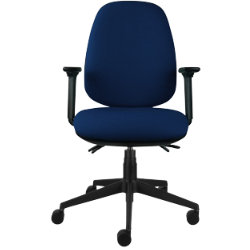 office chair synchro tilt blue by viking