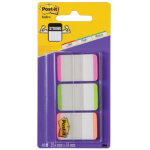 Post it Strong Lined Index Tabs Pink Green Orange 25mm 66 Tabs Per Pack