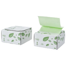 Post itRecycled Leaf Design Desk Grip Dispenser and Pad 76mm x 76mm 1 pad per pack