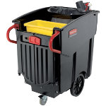 Rubbermaid Mobile Waste Collector FG9W7100BLA Black