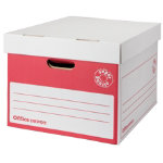 Office Depot Super Strong Easy Assembly XL Archive Box Red Pack of 10