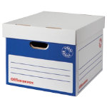 Office Depot Super Strong Easy Assembly Archive Box A4 Blue Pack of 10