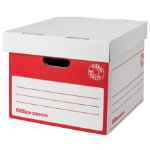 Office Depot Super Strong Easy Assembly Archive Box Red Pack of 10