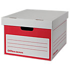 Office Depot Self Assembly Storage Box 250x331x383mm Pack of 10