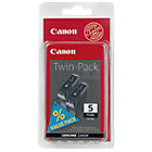 Canon PGI 5BK Black Ink Cartridge Twin Pack