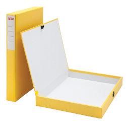 Office Depot Coloured Box Files Slimline Yellow