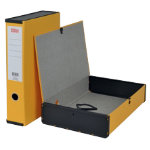 Office Depot Box File Lock Spring With Ring Pull And Catch 75mm Spine Foolscap Yellow