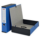 Office Depot Box File Lock Spring With Ring Pull And Catch 75mm Spine A4 Blue