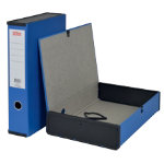 Office Depot Foolscap Lock Sprint Box File W Ring Pull Catch Blue