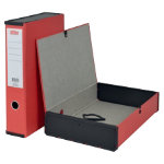 Office Depot Foolscap Lock Sprint Box File W Ring Pull Catch Red