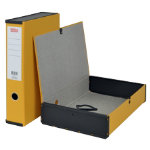 Office Depot Pvc Box File Foolscap Yellow