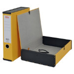Office Depot Box File Lock Spring With Ring Pull And Catch 75mm Spine A4 Yellow