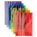 A4 Cellophane Sheets Assorted Colours Pack of 48