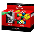 Lexmark 23  24 Original Black 3 Colours Inkjet Cartridges 018C1419E