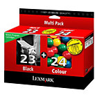 Lexmark 23 24 Black Cyan Magenta Yellow Printer 18C1419E