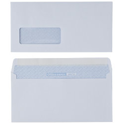 Premium 110gsm white peel and seal DL envelopes with window box of 500