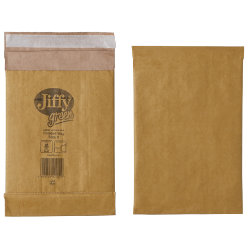 Jiffy Padded Bag Peel Seal Bag No 0 132 x 235mm 10 Per Box