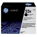 Original HP high capacity CE255X black toner cartridge No55X