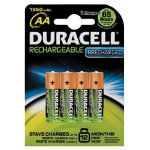 Duracell Stay Charged 1950MaH Rechargeable Premium AA Batteries Pack of 4