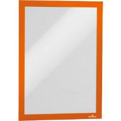 Durable Magaframe Magnetic Frame  Orange  A4  Pack 2