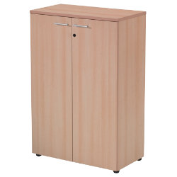 RS to Go RS to-go Low office storage cupboard beech effect