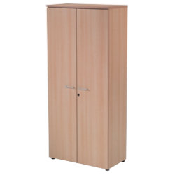 RS to Go RS to-go Tall office storage cupboard beech effect