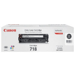Canon 718BK Black Laser Toner Cartridge