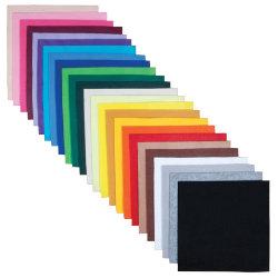 Felt Shapes 100 sheets 30 x 30cm in 25 colours