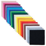 Felt Sheets 100 sheets 23 x 23cm in 25 Colours