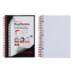 Black n Red Soft Cover Keynotes A5 Plain