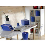 Exacompta Multiform Forever A4 letter tray in blue