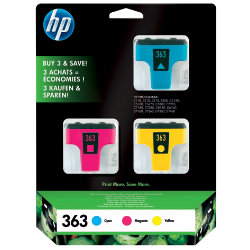 HP 363 Original 3 Colours Ink Cartridges CB333EE