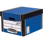 Fellowes Bankers Box R Kive Prestotm Classic Storage Box Blue White Pack of 10