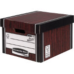 Fellowes Bankers Box R Kive Prestotm Classic Storage Box Wood Grain Pack of 10