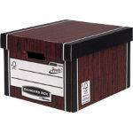 Fellowes Bankers Box R Kive Prestotm Classic Storage Box Wood Grain Pack of 10