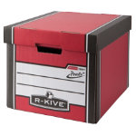 R Kive Prestotm Tall Storage Box Red White Pack of 10