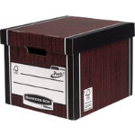 Fellowes Bankers Box R Kive Prestotm Tall Storage Box Wood Grain Pack of 10